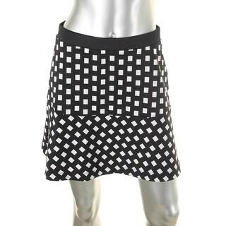 MICHAEL Michael Kors Womens Flounce Skirt Printed Mini - 6