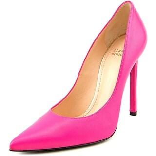 Stuart Weitzman Queen Women Pointed Toe Leather Pink Heels