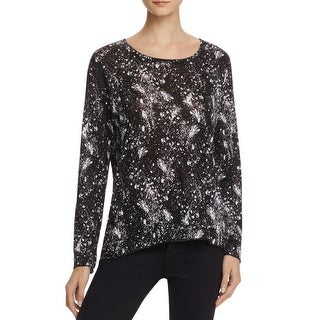 Generation Love Womens Pullover Top Linen Paint Splatter - xs