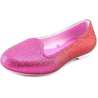 Crocs Eve Sparkle Round Toe Synthetic Flats