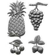 Fresh Fruit - U-Paint Metal Embellishments 4/Pkg