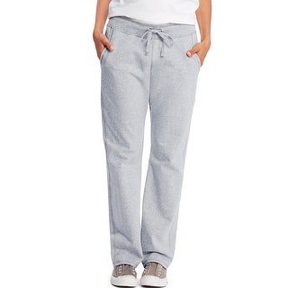 Hanes Women's French Terry Pocket Pant - Size - L - Color - Light Steel