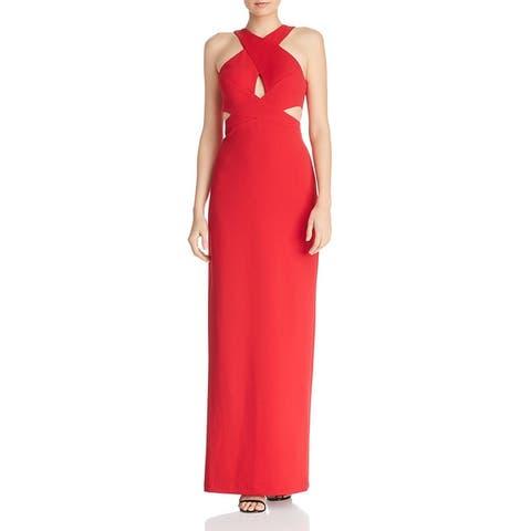 Aidan by Aidan Mattox Womens Evening Dress Scuba Cut-Out