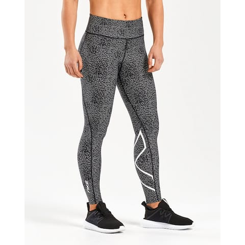 04e40bf9c362f8 2XU Women's Mid-Rise Print Compression Tights - Candlelight Broken  Maze/White