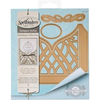 Spellbinders Shapeabilities Dies-Classic Elegance Tall Pocket