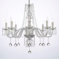 Crystal Ball Chandelier Lighting 8 Light Fixture