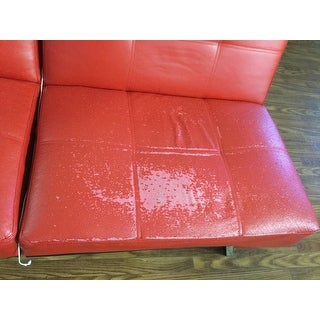 most helpful abbyson aspen red bonded leather foldable futon sleeper sofa      rh   overstock