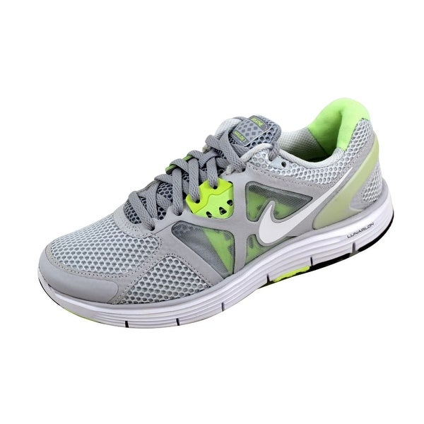 b1188f1b483 Shop Nike Women s Lunarglide + 3 Breathe Pure Platinum White-Wolf ...