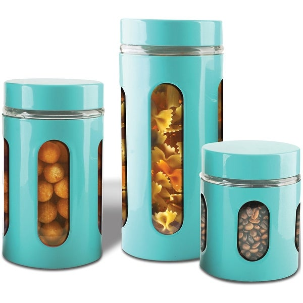 Premius Airtight 3-Piece Kitchen Glass Canister Set. Opens flyout.