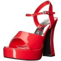 Women's Lea Heeled Costume Sandal, Red