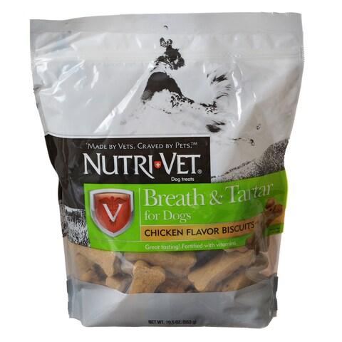 Nutri-Vet Breath & Tartar Mint & Parsley Biscuits 19.5 Ounce