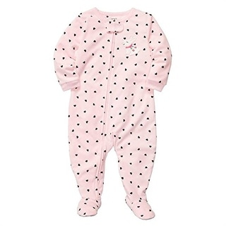 Carter's Little Girls' 1 Piece Microfleece Pajamas Bunny Hearts 5T
