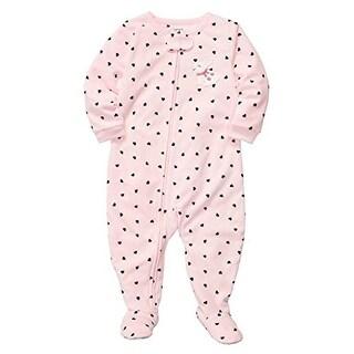 Carter's Little Girls' 1 Piece Microfleece Pajamas Bunny Hearts 5T