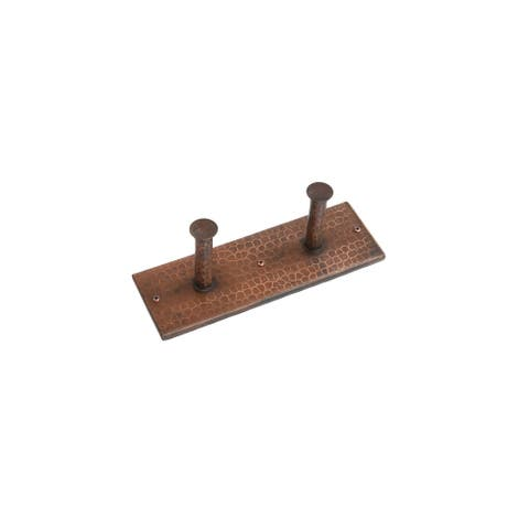 Premier Copper Products RH2 Double Robe Hook Rack - Oil Rubbed Bronze