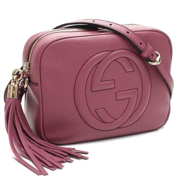 Gucci Soho Leather Disco Bag Dusty Rose