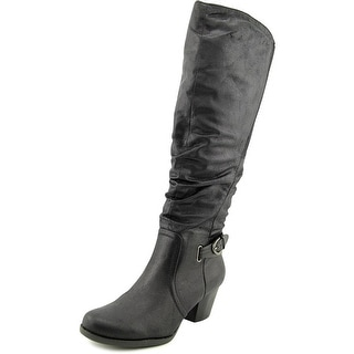 Baretraps Rosemary Women Round Toe Synthetic Black Knee High Boot