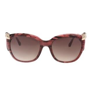 Roberto Cavalli RC1038 77G CASTELNUOVO Plum Square Sunglasses - 55-19-140