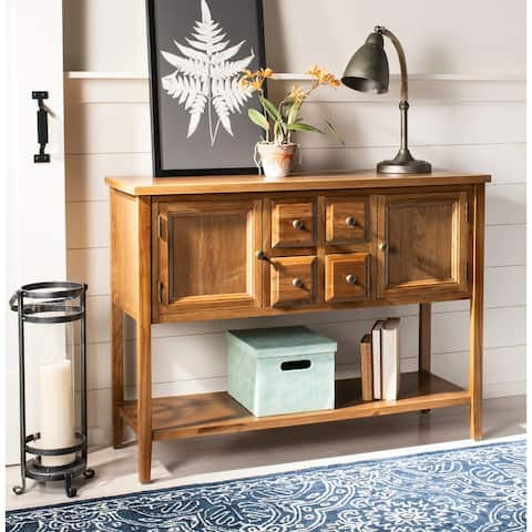 "Safavieh Brighton Oak Finish Storage Sideboard - 45.7"" x 15"" x 34"""