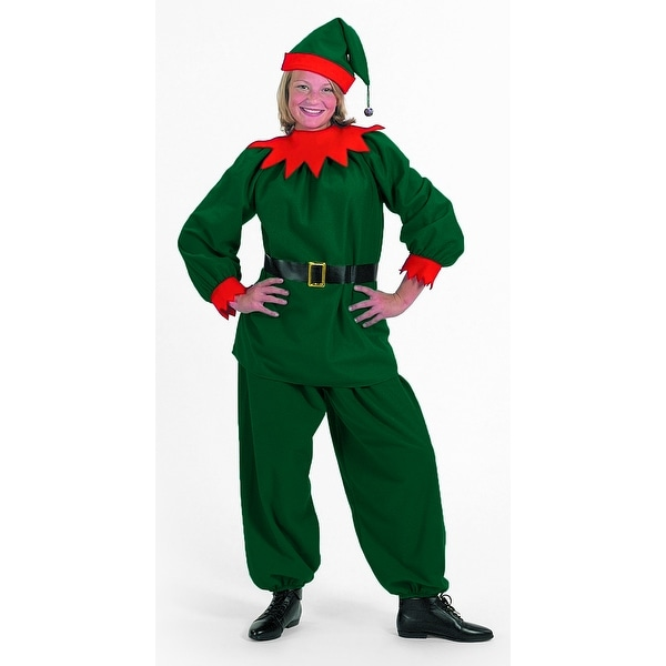 4 Piece Green Velour with Red Felt Trim Christmas Elf – Child Small. Opens flyout.