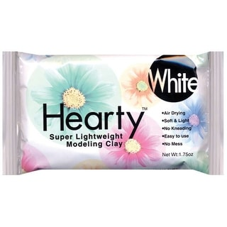 Hearty Super Lightweight Air-Dry Clay 1.75oz-White - White