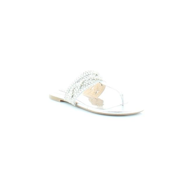 Badgley Mischka Trent Women's Sandals & Flip Flops Silver Metallic - 6.5