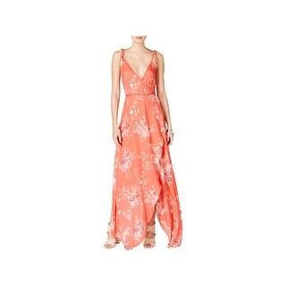 Minkpink Womens Maxi Dress Wrap Floral Print