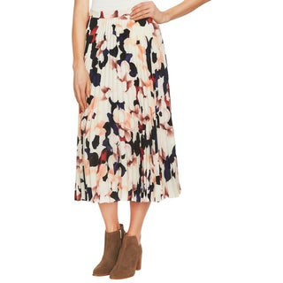 1.State Womens Midi Skirt Floral Pleated - 2