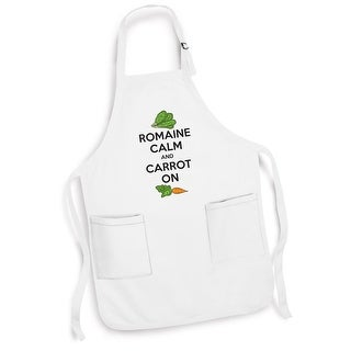 Unisex-Adult Romaine Calm And Carrot On White Cotton Apron