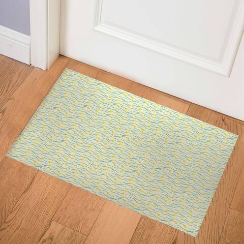 FIELD of FLOWERS YELLOW Indoor Floor Mat by Kavka Designs