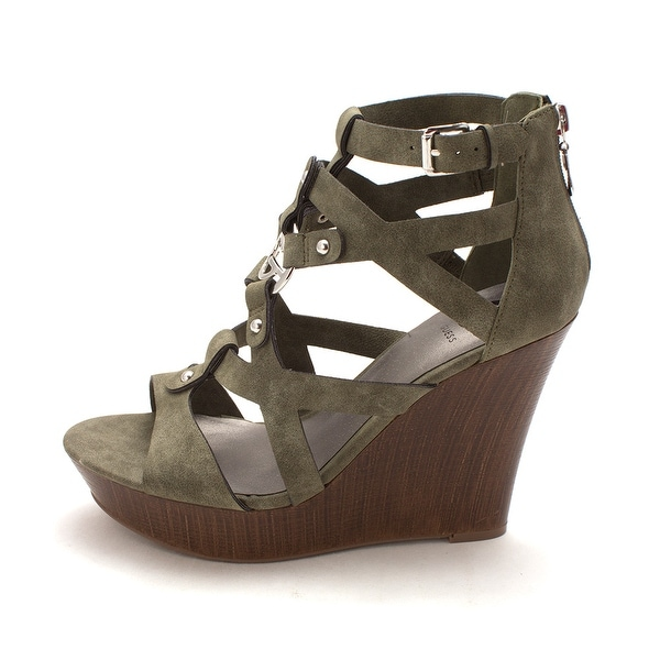 3f9508b053f Shop G by Guess Womens Dodge Open Toe Casual Platform Sandals - Free ...