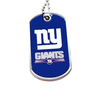 New York Giants Dog Tag Necklace Charm Chain