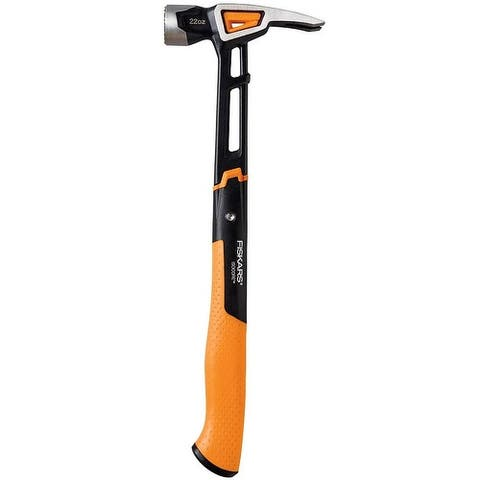 Fiskars 750241-1001 IsoCore Milled-face Framing Hammer, 22 Oz, 16""