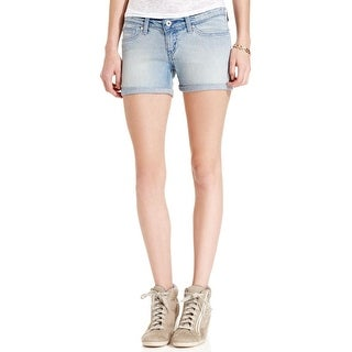 Levi's Womens Juniors Denim Shorts Light Wash Low-Rise
