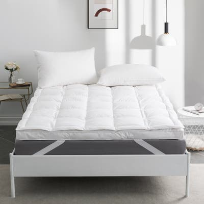 White Goose Feather Mattress Topper Feather Bed