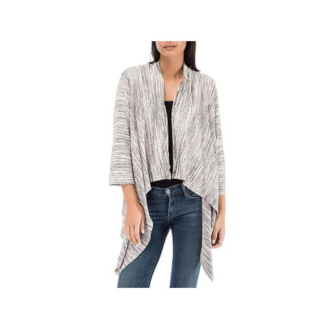 Bobeau Womens Cardigan Sweater Open Front Hi-Low Hem