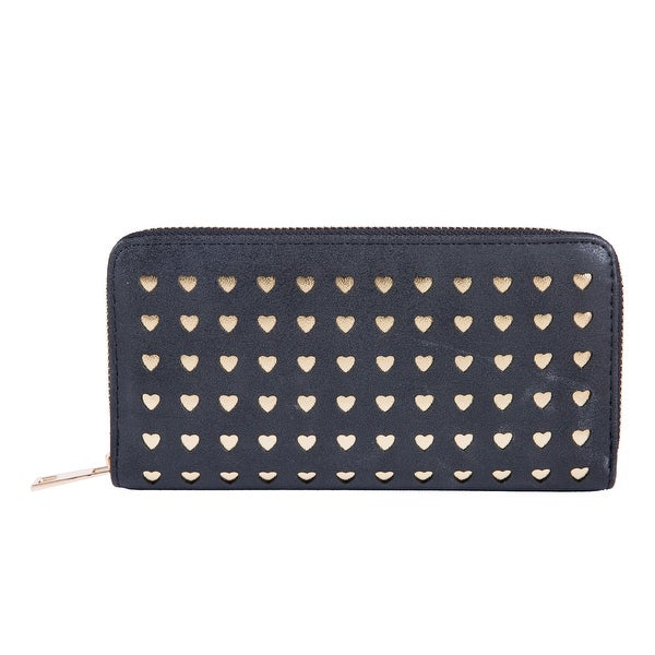 Midnight Black Golden Stars Clutch