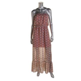 Speechless Womens Juniors Maxi Dress Chiffon Pattern - L