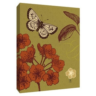 "PTM Images 9-154551  PTM Canvas Collection 10"" x 8"" - ""Orchard Flight"" Giclee Butterflies Art Print on Canvas"