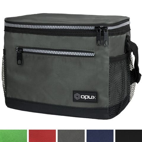 OPUX Premium Insulated Lunch Bag with Shoulder Strap Soft Leakproof Lunch Box Cooler for Men, Women, Boy, Girl Fits 6 Cans