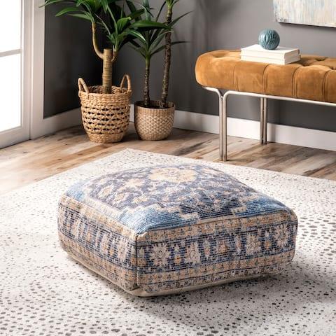 nuLOOM Handmade Medallion Floor Cushion