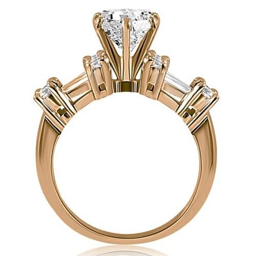 3.20CT Round Brilliant Moissanite Unique Engagement Wedding Ring 10K White Gold