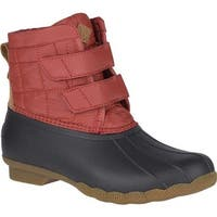Sperry Top-Sider Women's Saltwater Jetty Snow Boot Red/Brown Textile