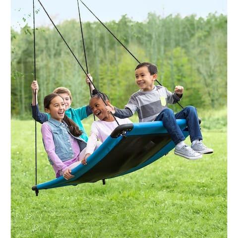 HearthSong 60-in. x 32-in. SkyCurve Platform Tree Swing - One-Size