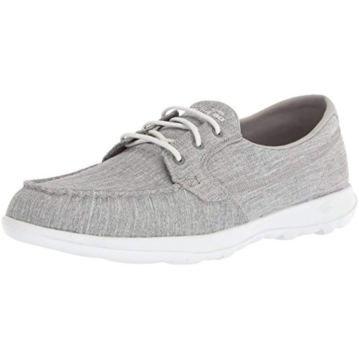 Skechers Performance Women's Go Walk Lite 15433 Boat Shoe,gray,10 M US