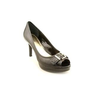 Alfani Shayla Open Toe Leather Platform Heel