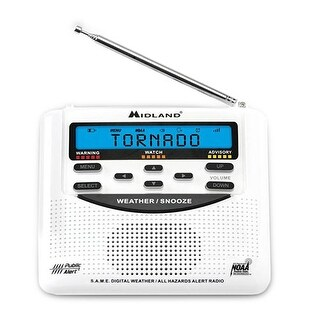 Midland WR120 Weather Alert Radio w/ 25-County Memory System