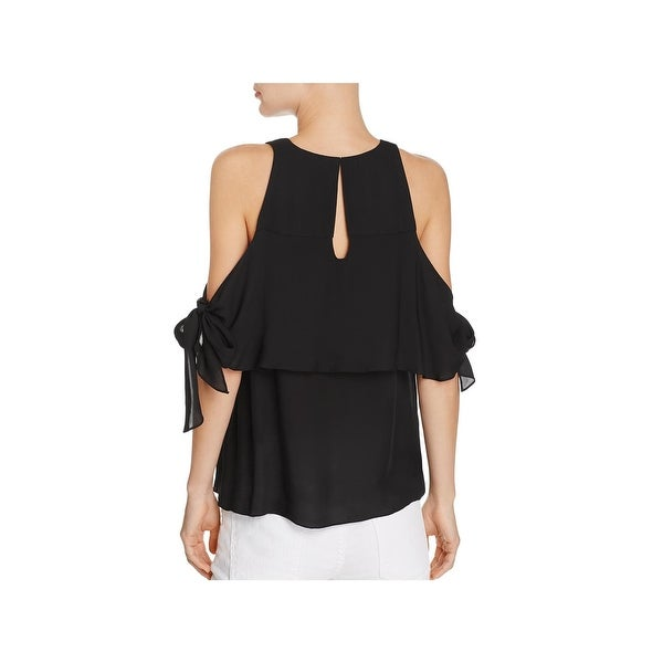 8f89d7a6eec9e Shop Ramy Brook Womens Penelope Casual Top Silk Cold Shoulder - Free ...