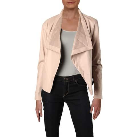 BB Dakota Womens Peppin Double Face Coat Spring Faux Leather