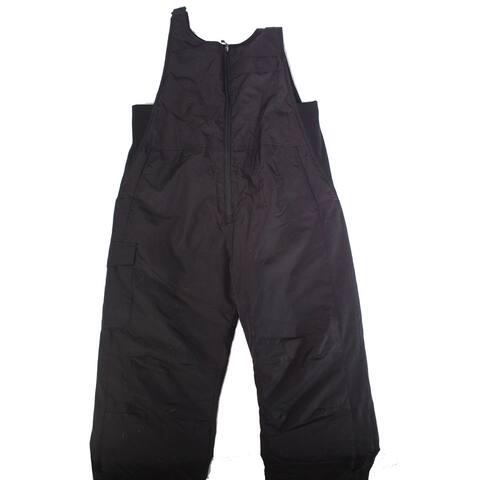 White Sierra Mens Black Size XL Fleece Lined Bib Overalls Straight Leg
