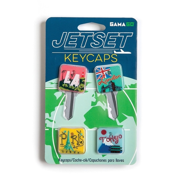 Jetset Key Caps: Set of 4 - Multi